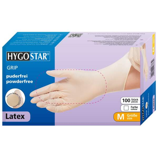 Latex Handschuhe GRIP, puderfrei
