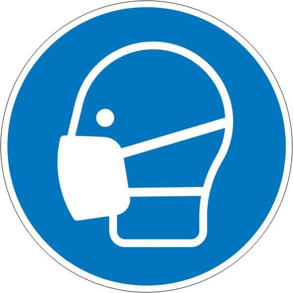 Gebotszeichen Maske benutzen