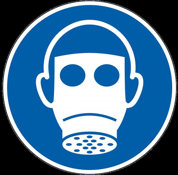 Gebotszeichen Atemschutz benutzen