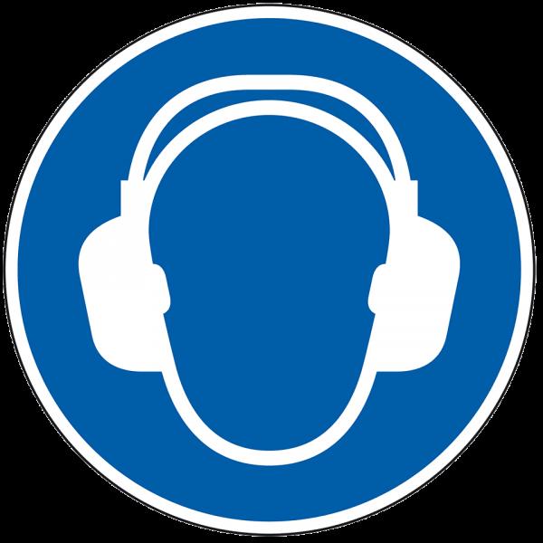 Gebotszeichen Gehörschutz benutzen