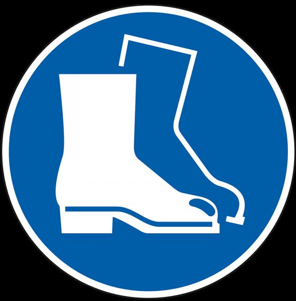 Gebotszeichen Fußschutz benutzen
