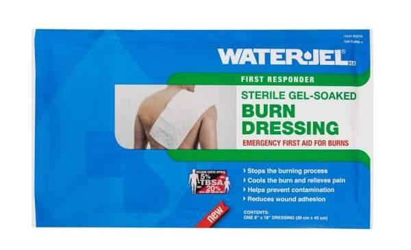 Water Jel Verbrennungsschutz, Gelkompresse 20 x 45 cm, steril