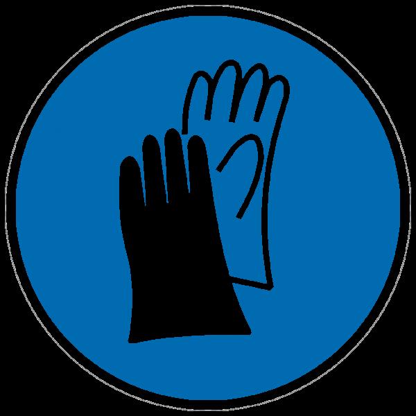 Gebotszeichen Handschuhe benutzen