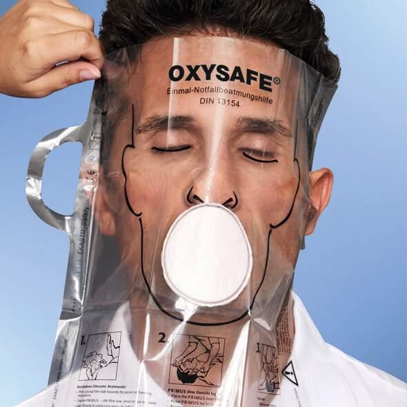 Einmal Notfallbeatmungshilfe OXYSAFE