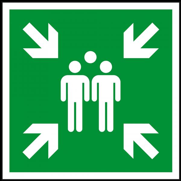 Rettungszeichen Sammelstelle