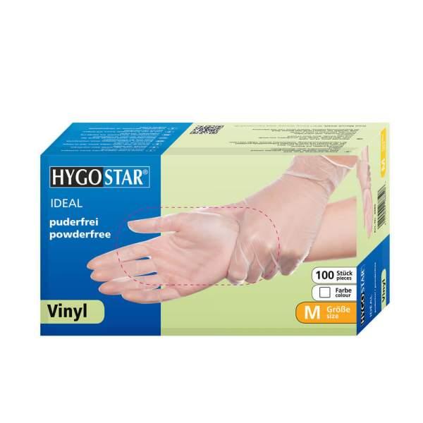Vinyl Handschuhe Ideal, puderfrei, weiß