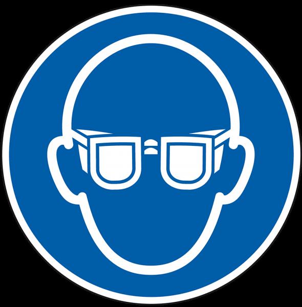 Gebotszeichen Augenschutz benutzen